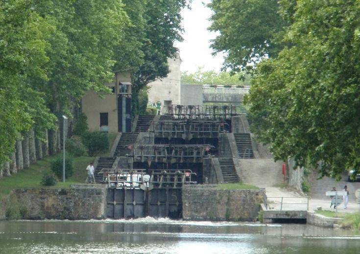 Écluses de Saint-Roch, Castelnaudary, Midi Canal, France