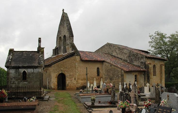 Église de Sensacq, Chemin de Saint-Jacques