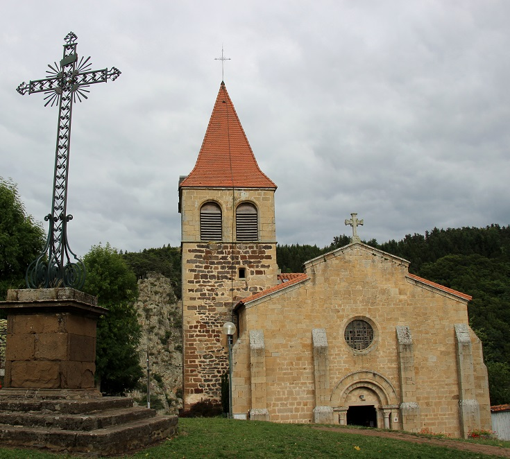 Parish church, Saint-Privat d'Allier, GR65, France