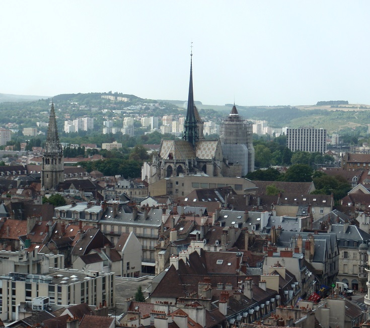 View from Tour Philippe le Bon, Dijon, Burgundy Canal, France