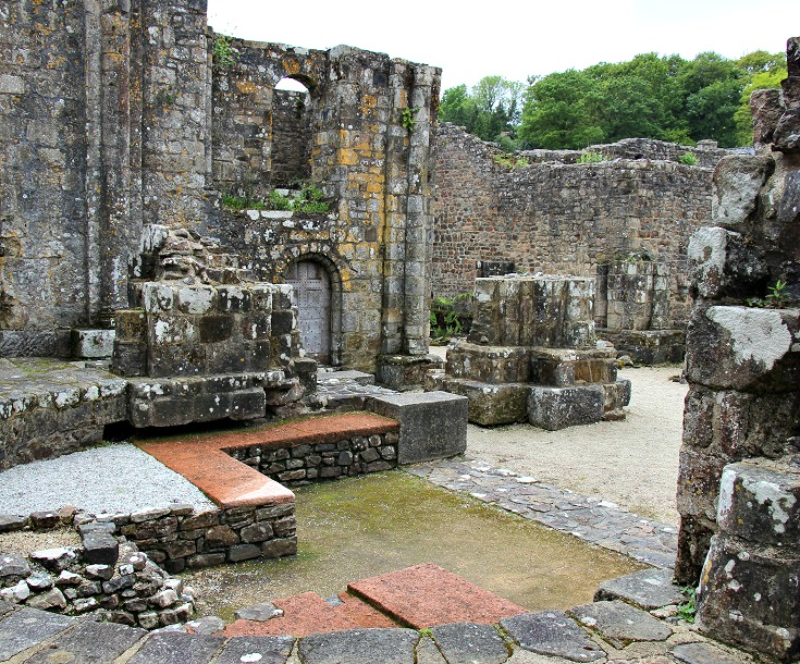 Abbaye de Landévennec, GR 34, Coast of Brittany, France