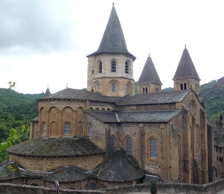 Abbaye de Sainte-Foy, Conques, GR65, France