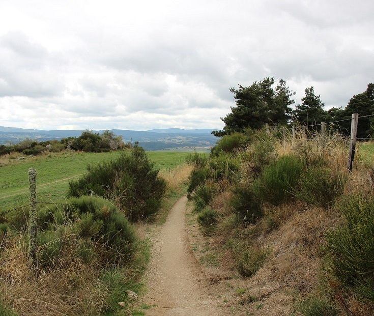 Approaching Saugues, GR65, France
