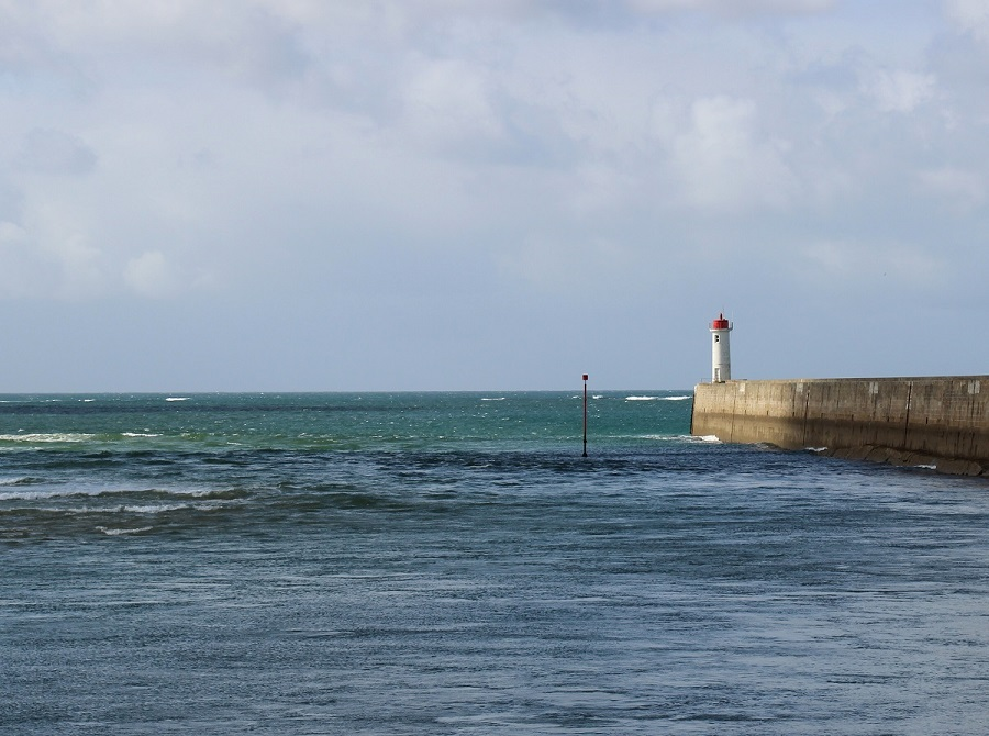 Lighthouse at Audierne, GR 34, Brittany, France