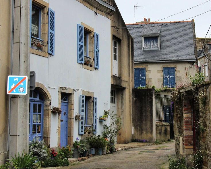 Back street of Douarnenez, France