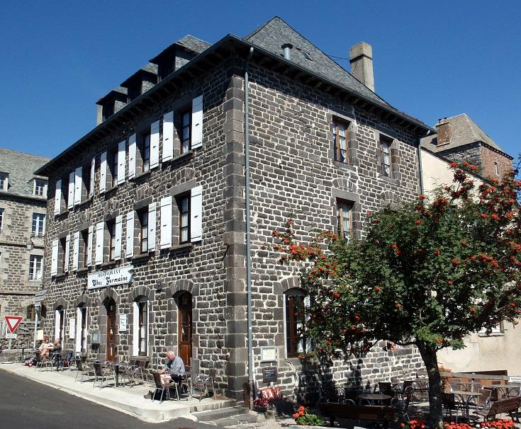 Café Chez Germaine, Aubrac, GR 65, Chemin de Saint-Jacques, France