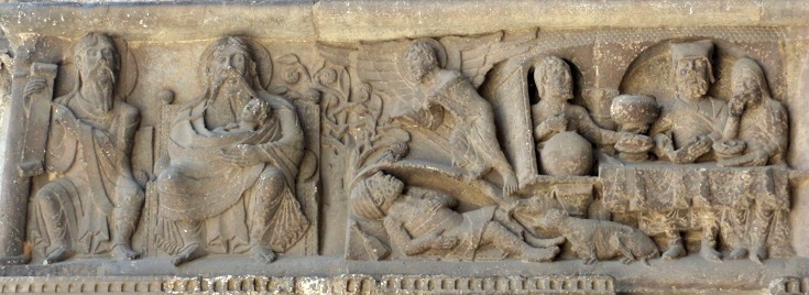 Cathedral carvings, Moissac, GR 65, France