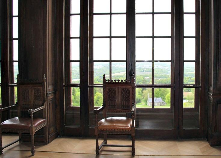 Reception room, Château de Trévarez, Nantes à Brest Canal, Brittany, France