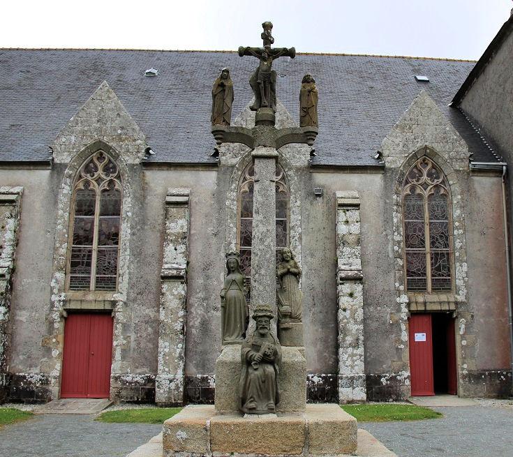 Exterior of Chapelle de Sainte-Anne, Brittany
