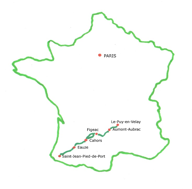 Chemin de Saint-Jacques map
