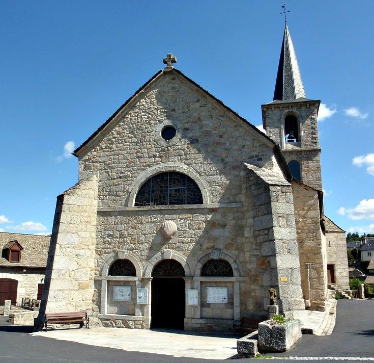 Church, Aumont-Aubrac, GR 65, France