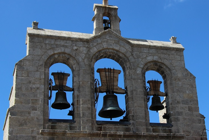 Church bells, Saint-Alban-sur-Limagnole, GR 65, France