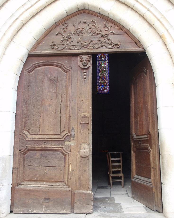 Church door, Rocamadour, GR46 - GR652, France