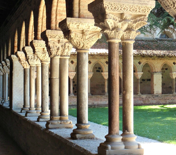 Cloister columns, Moissac, GR 65, France