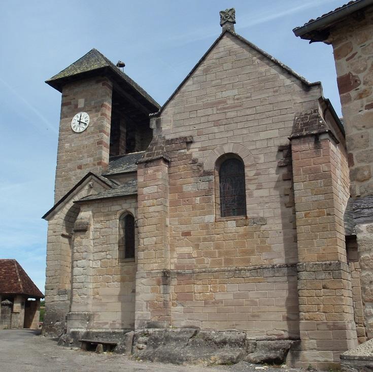 Eglise Saint-Barthélèmy, Curemonte, GR480, France