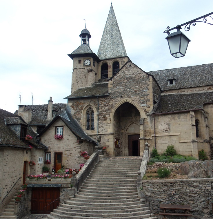 Eglise Saint-Fleuret, Estaing, GR 65, Chemin de Saint-Jacques, France