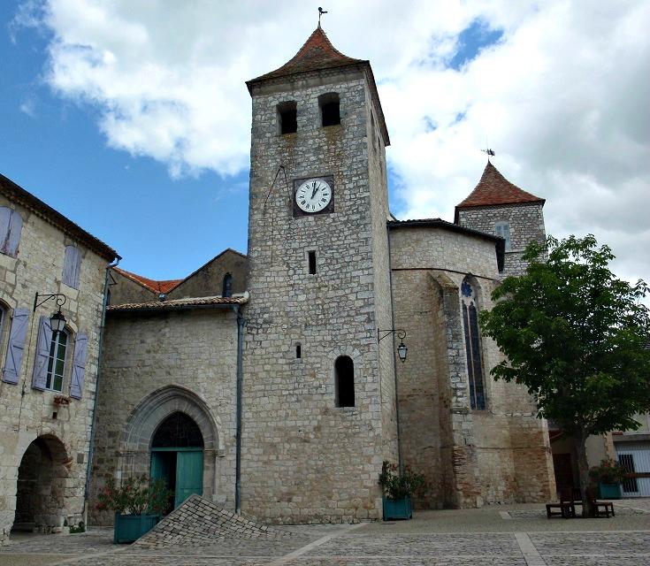 Eglise St-Barthelemy, Lauzerte, GR 65, France