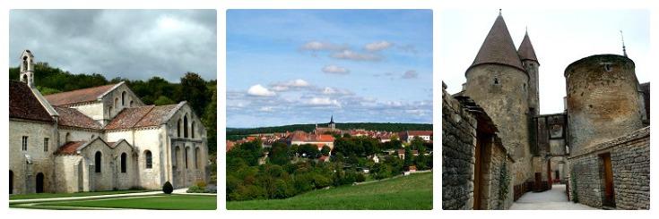 Abbaye de Fontenay, Flavigny-sur-Ozerain, Châteauneuf-en-Auxois, Burgundy Canal guidebook