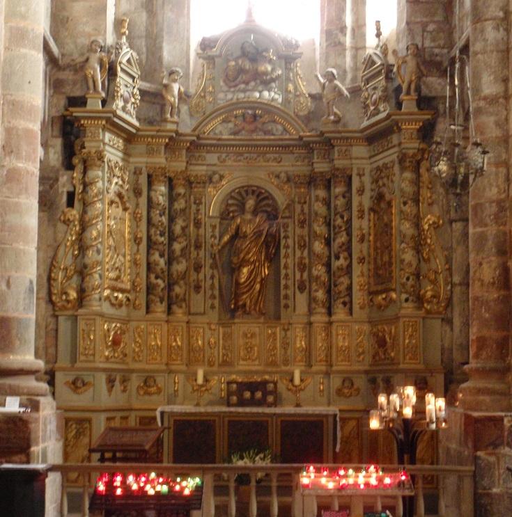 Inside Abbaye de Sainte-Foy, Conques, GR65, France