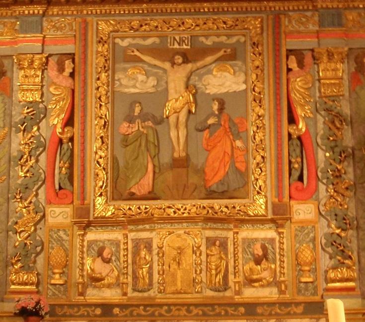 Inside Eglise Saint-Barthélèmy, Curemonte, GR480, France