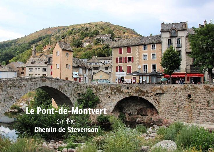 View of the bridge and stone buildings in Le Pont-de-Montvert