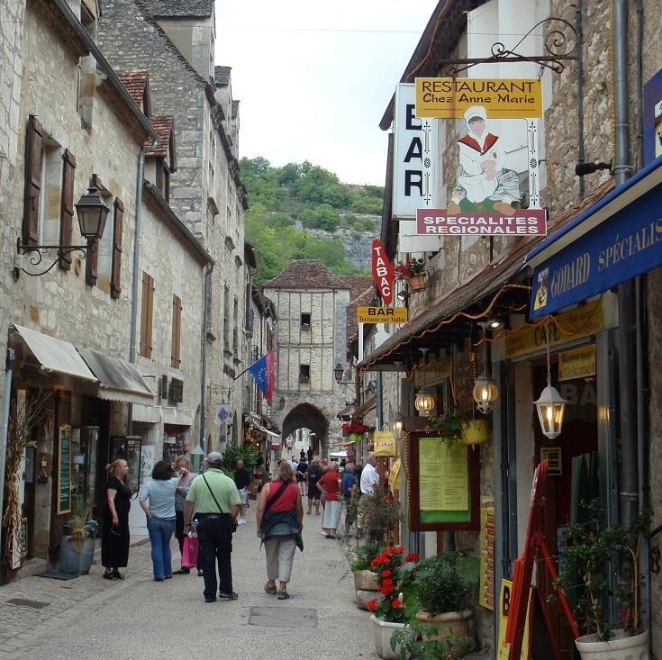 Main street, Rocamadour, GR46 - GR652, France