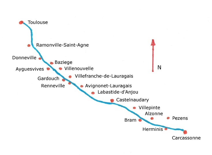 Map of the Midi Canal
