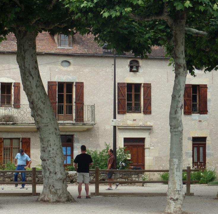 Petanque game, Cajarc, GR 65, France