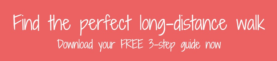 Find the perfect long-distance walk - pink button