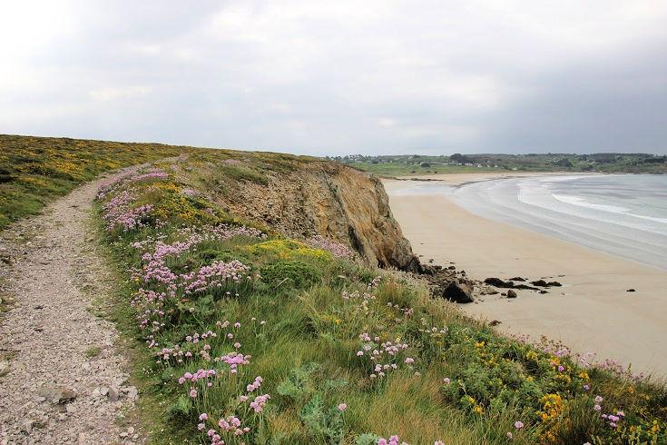 Plage de Kerloc'h, GR34, Brittany, France