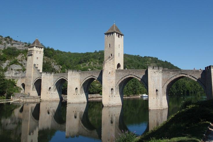 Pont Valentré, Cahors, GR 65, Chemin de Saint-Jacques, France