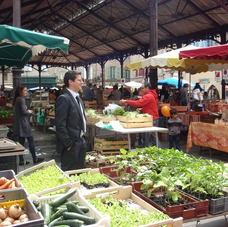 Saturday morning market, Figeac, GR 65, Chemin de Saint-Jacques, France