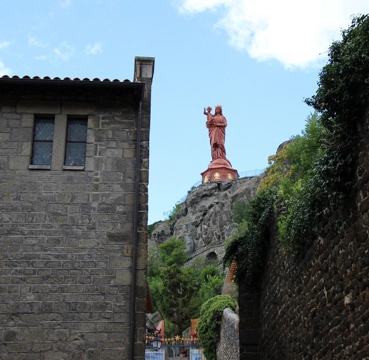 Statue Notre-Dame de France, Le-Puy-en-Velay, GR65, France