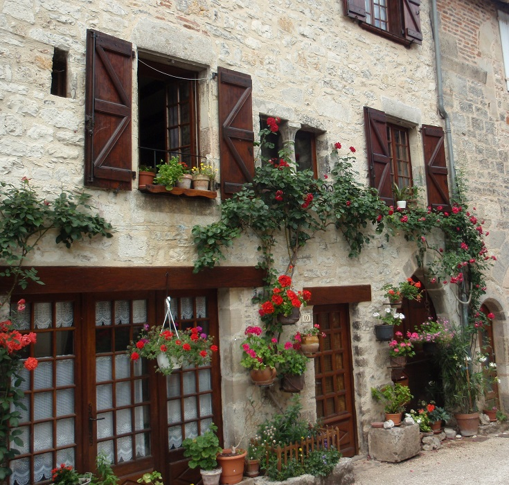The oldest house in Cajarc, GR 65, France