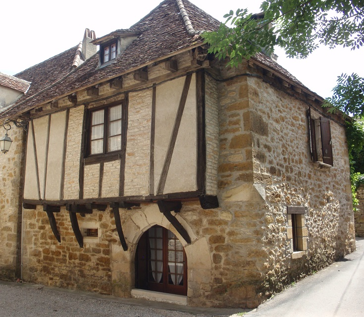 Timbered house, Carennac, GR652, France