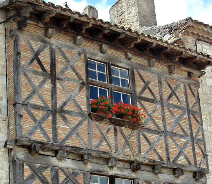 Timbered house, Lauzerte, GR 65, France