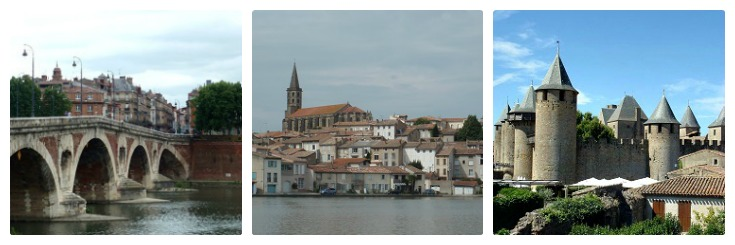 Toulouse, Castelnaudary, Carcassonne, Midi Canal guidebook