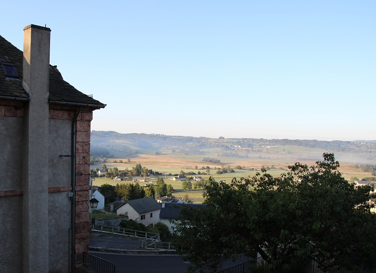 View from the chateau, Saint-Alban-sur-Limagnole, France