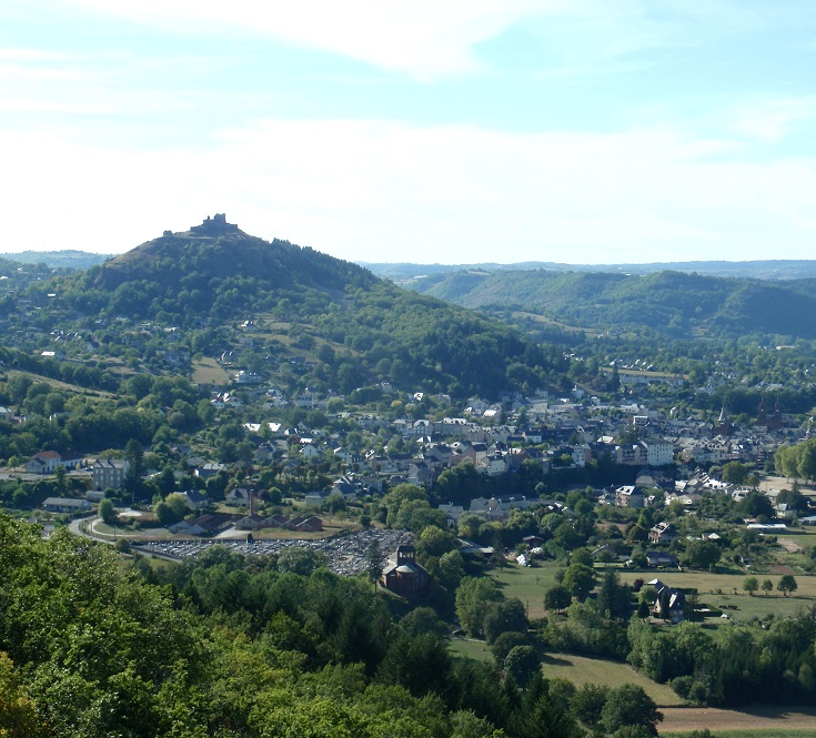 View of Espalion from La Vierge, GR 65, Chemin de Saint-Jacques, France