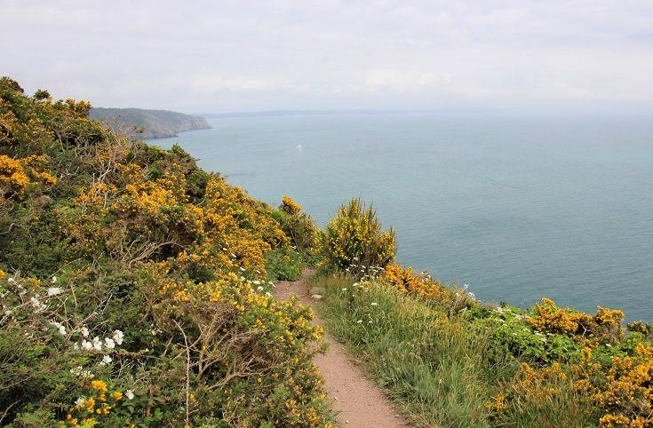 Views from Cap de la Chèvre, GR34, Brittany, France