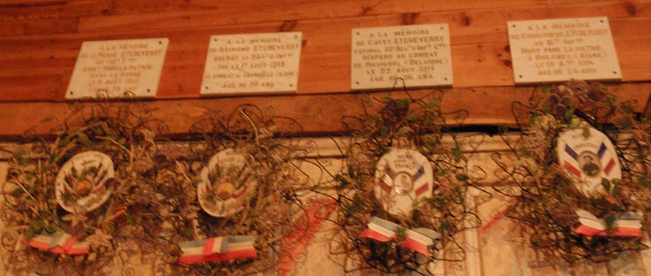 WWI memorials, Chapelle Saint-Nicolas, Harambeltz