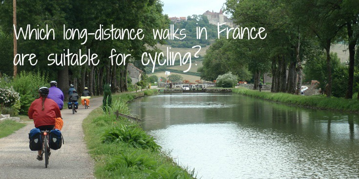 Which long-distance walks are suitable for cycling